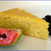 Cornmeal Cake (gluten free and vegan)