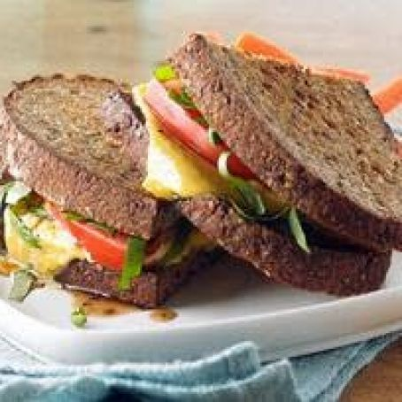 Bruschetta-style Grilled Cheese Sandwich