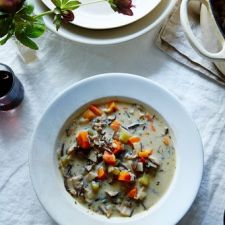 Cream of Mushroom & Wild Rice Soup
