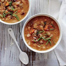 Creamy White Bean Soup with Smoked Ham Hocks