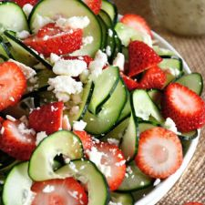Cucumber & Strawberry Poppyseed Salad