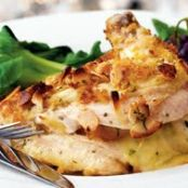 Almond-Crusted Apricot-and-Brie-Stuffed Chicken