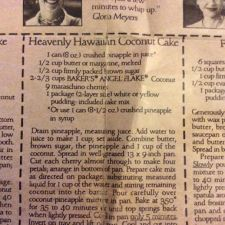 Heavenly Hawaiian Coconut Cake