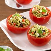 Tomato Cups with Pasta Salad