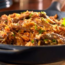 Zesty Beef and Rice Skillet