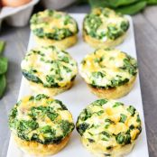 Egg Muffins w/ Sausage, Spinach, & Cheese