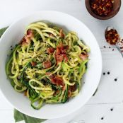 Cacio e Pepe with bacon (Zucchini Noodles)