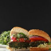 Paleo Healthy Kale and Portobello Veggie Burger