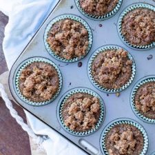 Apple & Cinnamon Muffins with a Coconut Walnut Streusel