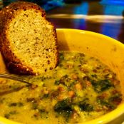 French Lentil, Kale and Kabocha Squash Soup