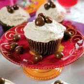 Chocolate Cupcakes with Coffee Cream Filling and Coffee Buttercream Frosting