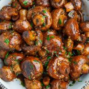 Balsamic Soy Roasted Mushrooms
