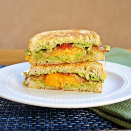Grilled Bacon, Avocado and Cheese Sandwich