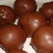 Chocolate Covered Rice Krispie Peanut Butter Balls