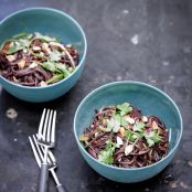Black Rice Noodles With Ginger & Chili