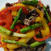 Beef, Bell Pepper and Asparagus with Hoisin Sauce