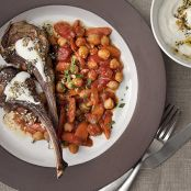 Lamb Chops with Everything-Bagel Yogurt & Chickpeas