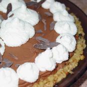 Chocolate Mousse Pie with Walnut Crust