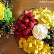 Dreamy Orange Summer Fruit Dip