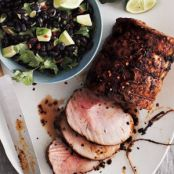 Chipotle Pork Loin With Black Bean Salad