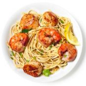 SHRIMP AND SCALLOP SCAMPI WITH LINGUINE