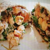 Buckwheat, Chickpea & Sweet Potato Jamaican Jerk Wrap (or Salad)