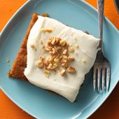 Pumpkin Cake Bars with Cream Cheese Frosting