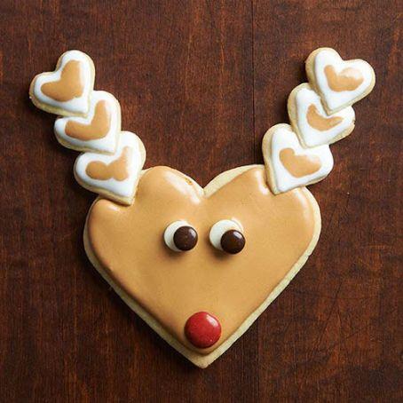 Heart Shape Reindeer Sugar Cookies Recipe 4 6 5