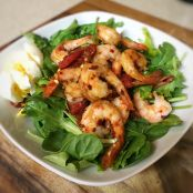 Warm Shrimp Spinach Salad