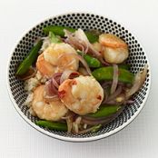 Asian Skillet Shrimp and Sugar Snap Peas