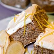 Low Carb Gingerbread Squares with Lemon Frosting