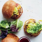 Farmbar Turkey Burgers with Bread-and-Butter Zucchini Pickles
