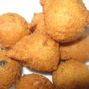 Jalapeno Hush Puppies with Strawberry and Honey Dipping Sauce