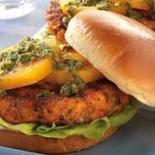SALMON BURGERS WITH CITRUS HERB SAUCE