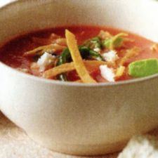 Tortilla and Mexican Chorizo Soup