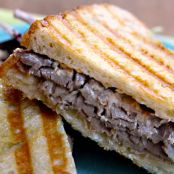 Roasted Beef and Horseradish Cheddar Panini