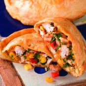 Cheesy Corn and Chicken Turnovers