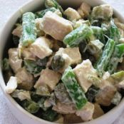 French Chicken Salad with Green Beans