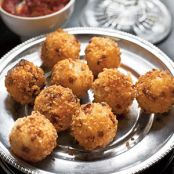 Rice and Ham Croquettes with Tomato Sauce