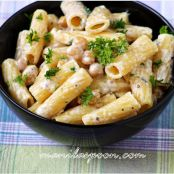 Rigatoni with Creamy Garbanzo Bean Sauce