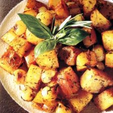 Roasted Potatoes and Pearl Onions