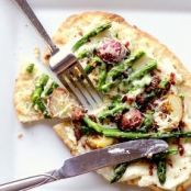 Potato And Asparagus Pizza
