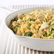 Cheesy Chicken Broccoli and Cheese Casserole