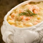 Paula Deen's Potato Soup with Shrimp