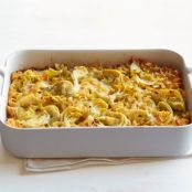 New Mexi-Cali Green Chile-Cheese Kugel