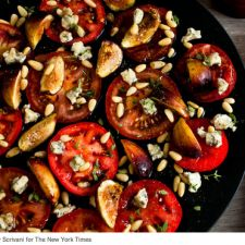 Tomato, Fresh Fig, & Blue Cheese Salad