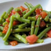 Sauteed Green Beans with Tomato & Garlic