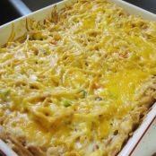 Cheesy Baked Chicken Spaghetti