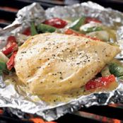 Lemon Pepper Chicken Grill Pouch with Pepper & Onions