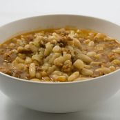 Pasta eFagioli con Salsicce (Pasta and Beans with Sausage)